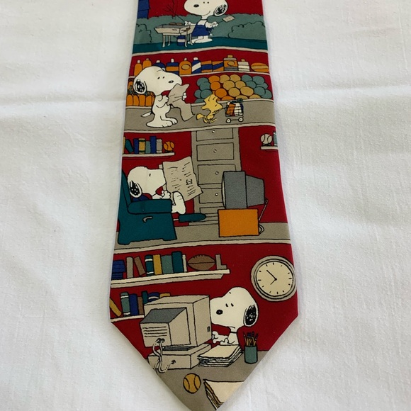 """Peanuts Other - Peanuts """"All in a Day"""" Vintage Novelty Necktie"""